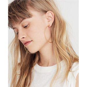 EUC Madewell oversized hoop earrings